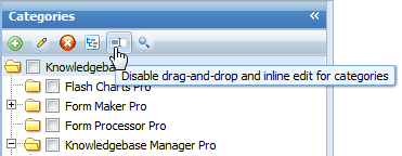 Inline edit disabling in Knowledge Base Software