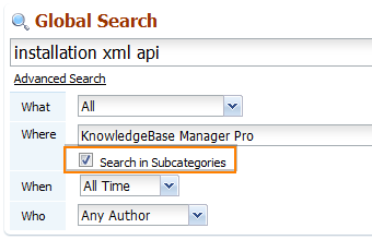 Search in subcategories. Backend. Knowledge base software.