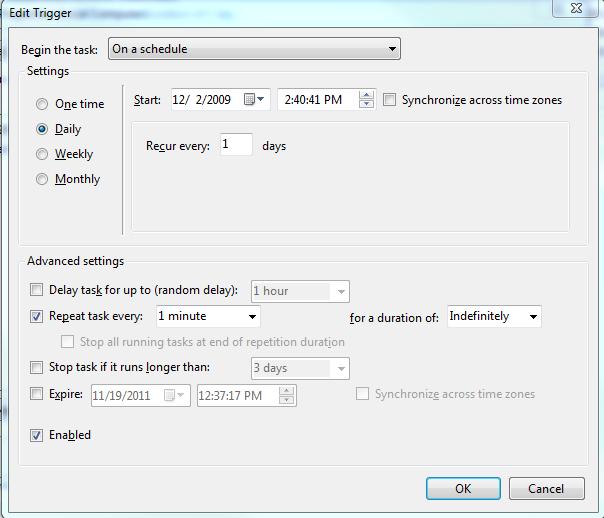 Setup Cron job on Windows 7/Vista/2008 | Web-Site-Scripts com