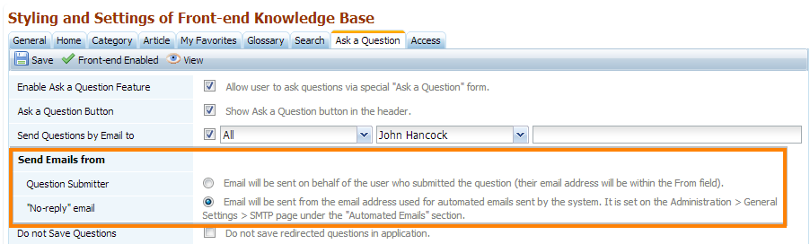 Return email for automated emails web site scripts these settings have been added because at some circumstances it is required if the return email matches the email of the question author ccuart Choice Image